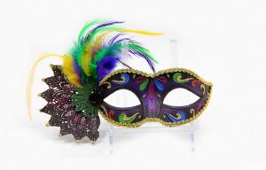 China Mardi Gra Lace Masquerade Masks Blue Glitter Masquerade Masks For Women on sale