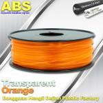 Materiais plásticos do filamento da impressora do Desktop 3D do ABS usados em 3D que imprime a laranja do transporte