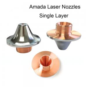 China Amada Nozzle Laser Cutting Parts Single Layer Chroming Accessories For CNC Laser Cutter on sale