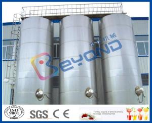 China Large Outdoor Stainless Steel Storage Tanks / SUS304 SUS316 Stainless Steel Dairy Equipment on sale