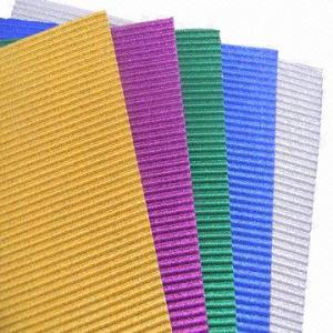China Glitter Corrugated Papers for Gift Wrapping, DIY Activities and Children's Handcrafts on sale
