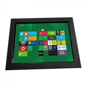 China 12.1 inch industrial chassis LCD touch monitor displays with VGA,DVI,HDMI input for koisk,gaming on sale