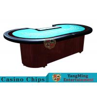 Baccarat Standard Casino Poker Table / 80 Inch Large Poker Table For 9 Players