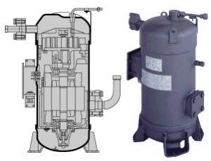 R407c Hermetic Rotary Compressor For Ac System Heat Pump