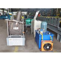 China Cold Roll Forming Machine Rack Upright Roll Forming Machine With 5 Tons Manual Decoiler on sale