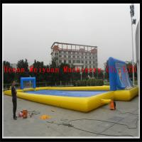 CUSTOMIZED best quality water inflatable soap football for summer