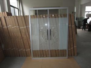 China Amman Hot Selling Sliding Shower Glass, Jordan Hot Selling Shower Screens For Hotel Bathrooms on sale