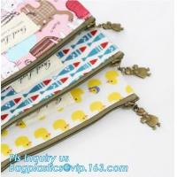 pencil case students Simple canvas bag Stationery case large PU pencil bag, zipper pencil pouches bag School Stationery