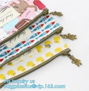 China pencil case students Simple canvas bag Stationery case large PU pencil bag, zipper pencil pouches bag School Stationery on sale