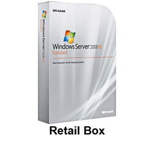China Microsoft Windows Server 2008 R2 Standard 1-5 Client Retail Box on sale