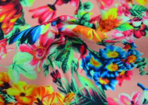 China Twill Polyester Fabric / Patterned Printed Polyester With Heat Transfer on sale
