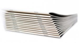 China Coated Paper Perfect Bound Magazine , CMKY Color Saddle Stitch Paperback on sale