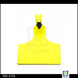 China One Piece UHF 960 MHz Custom RFID Tags TPU Material Yellow Color For Wild Bison on sale