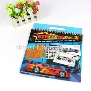 China Car design PVC Sketch book ,Sketch coloring book for boy ,Car design sketch book on sale