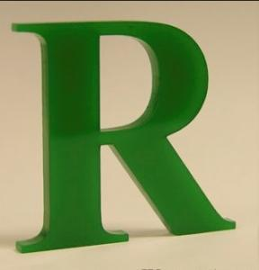 China indoor plastic profile acrylic LED letters sign displays on sale
