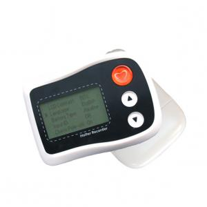 China Small Portable Holter ECG Monitor Mini White LCD Recorder Up To 36 Hours Recording Time on sale