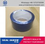 Blue / Red Security Seal Tape , 25 Microns Tamper Evident Sealing Tape