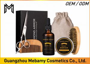 China Beard Grooming & Trimming Kit for Men Care - Beard Brush, Beard Comb, Unscented Beard Oil Leave-in Conditioner, Mustache on sale