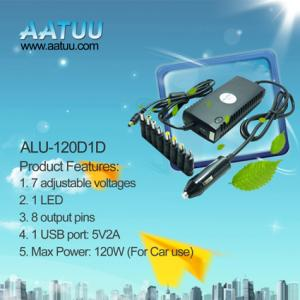 China DC 120W Universal Laptop Power Adapter for Car use -ALU-120D1D on sale