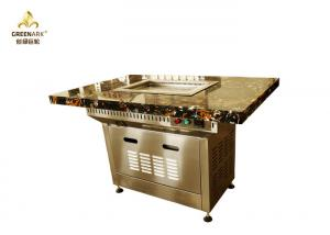Quality Marble Table Top Small Mobile Commercial Hibachi Grill For Outdoor Kitchen