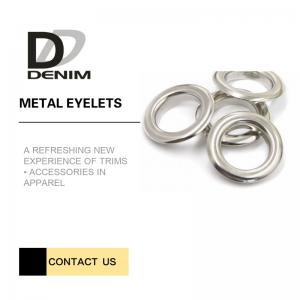 China Silver Color Metal Eyelet Rings Washable Test Passable Quality CPT Dhaka on sale