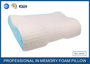 China Different Height  Wave Memory Foam Contour Pillow with Deluxe Comfort Pillow Cover on sale