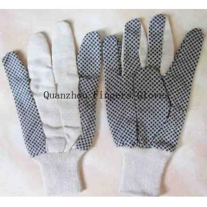 China Gant pointillé par PVC avec le poignet de tricotage on sale