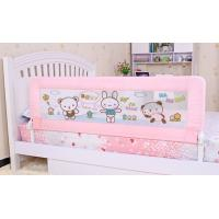 China Folding Pink Bed Guard Rails 100CM , Safety Convertible Bed Rails For Children on sale