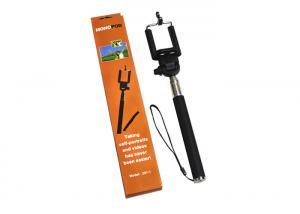 China Black Selfie Stick Monopod For Iphone 6 , Aluminum Monopod Selfie Stick Bluetooth on sale