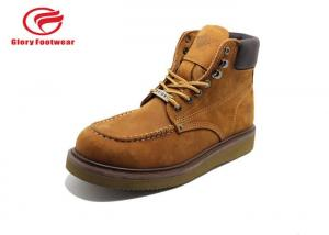 China Lightweight Goodyear Welt Safety Shoes With EVA Outsole Anti-Smashing Mens on sale