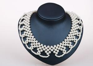 China Party Favors Handmade / Handcrafted Pearl Jewelry Necklace Designs Elegant on sale