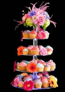 China 7-Tier Bakery clear acrylic display case , 5mm Cupcake Display Stand Rack on sale