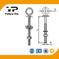 Eye bolt with Nut and Washer AISI316, with welded head, with Flat Head, with Nut and Whasher, with Wide Opening Eye