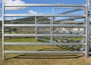 China Custom Size Livestock Portable Cattle Fence Panels Square / Round / Oval Shape on sale