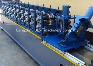 China Steel Garage 2' And 3' Track Door Guide Roll Forming Machine 3kw MotorPower on sale