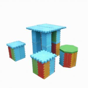 China Colorful Plastic Folding Stool With Storage Box , PP Foldable Step Stool on sale
