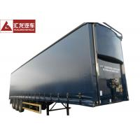 China Aerodynamics Curtain Side Step Deck Trailer , Curtain Side Lorry With Light Curb Plate on sale