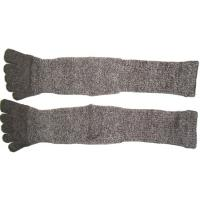 High Performance 24.5 cm 120 Needle Grey Cotton Five Finger Toe Terry Loop Socks For Winter