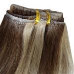 巻き毛の皮のよこ糸テープ毛延長