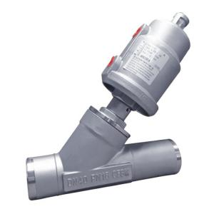 China Welded Angle Valve Pneumatic Angle Seat Valve with Stainless Steel Actuator on sale