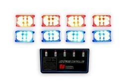 China LED-4D-6H 12v High-power LED Strobe Warning Light Lamp for Car on sale
