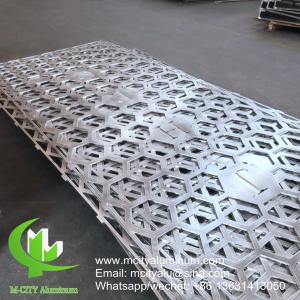 China Hollow  Perforated Aluminum Sheet Decorative ,  Patterned  Aluminium Perforated Screen on sale