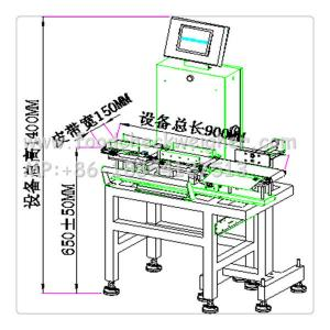 China checkweighing system in production line,automatic rejection and sorting system on sale