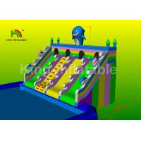 Rainbow Slide Ocean Inflatable Water Parks For Adult And Kids 2 Years Warranty