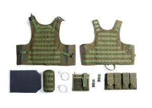 China Military Tactical Vest With Two Pistol Pouch , Tactical Vest Carrier For Law Enforcement on sale