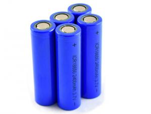 China Great Power 3.7V 18650 Li Ion Battery 2400mah For Solar Light Battery Packs on sale