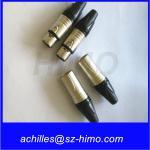 push pull self-locking wholesale Neutrik NC3FXX female XLR 3-pin Connector, Nickel Shell, Silver Contacts