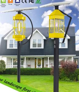 China Human infrared-aluminum Alloy , Solar Power  Outdoor Insect killer light on sale