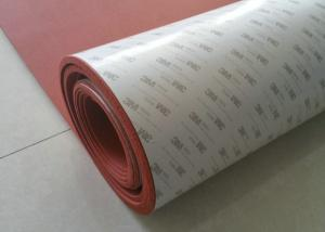 China High Heat Silicone Sponge Sheet , Silicone Foam Sheet With Backing Adhesive 3M Tape on sale