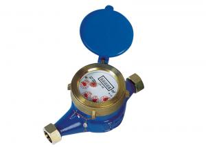 Quality Rotary Brass Multi Jet Water Meter ISO 4064 Class B Horizontal for sale